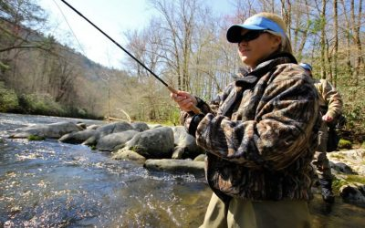Trout Fishing with Rachel Holder in North Carolina